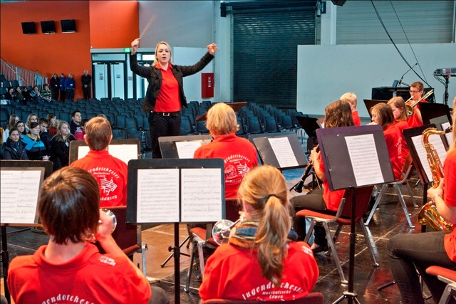 Das Jugendorchester auf dem BWMusix Wettbewerb 2011 in Balingen